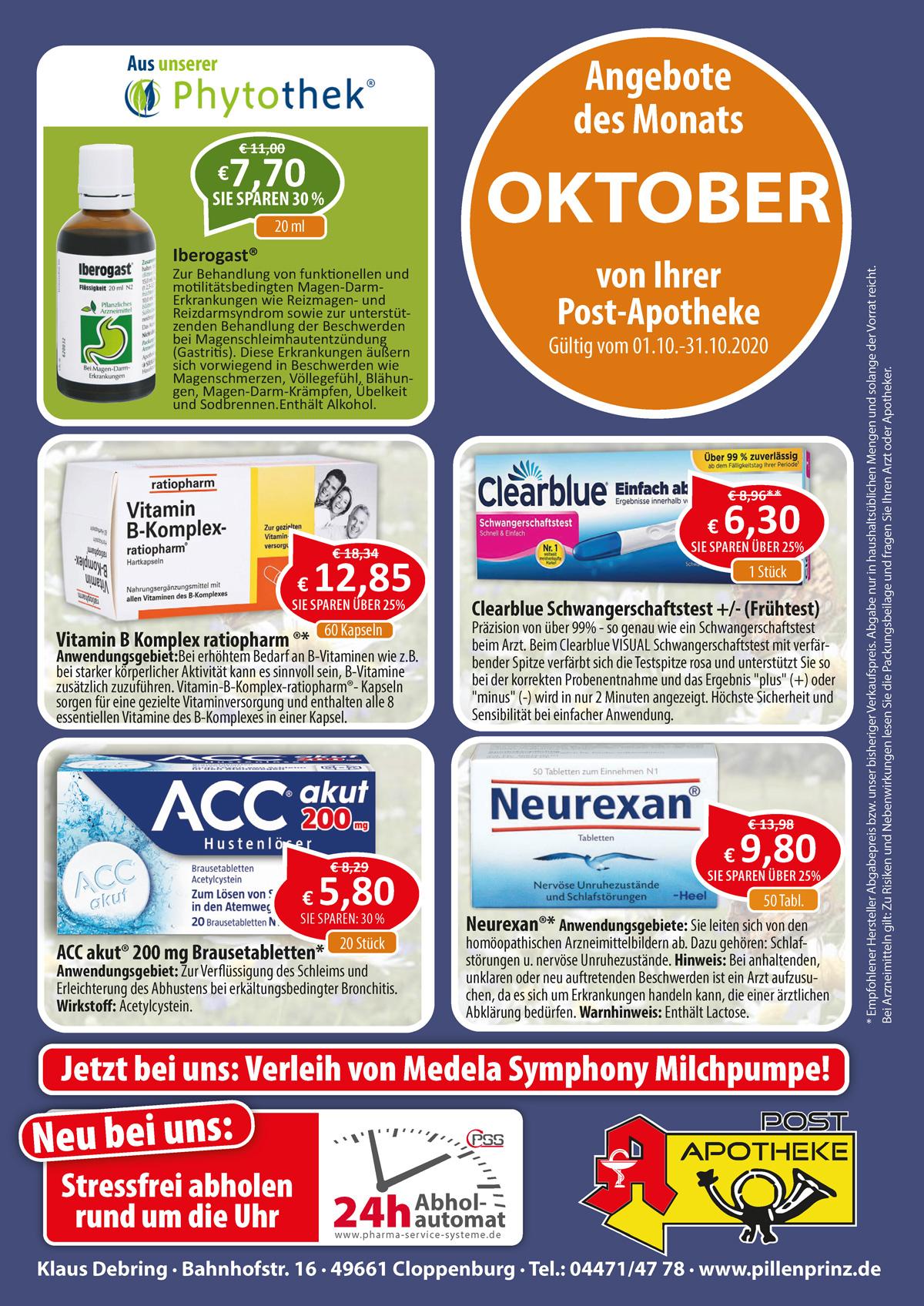Aktuelle Angebote der Post Apotheke Cloppenburg